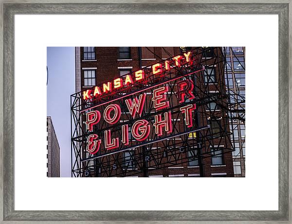 Kc Power And Light Framed Print