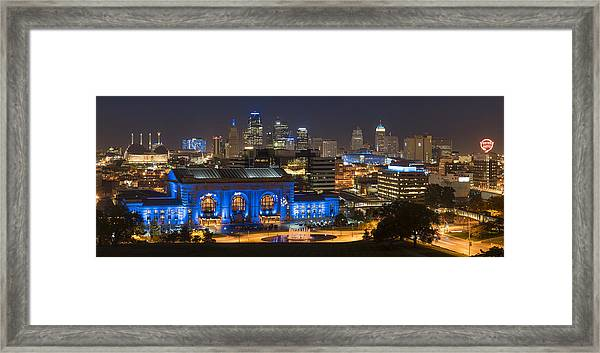 Kc Royal Skyline Framed Print