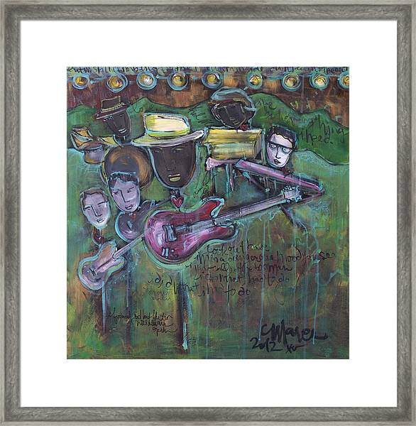 Framed Print featuring the painting Keb' Mo' Live by Laurie Maves ART