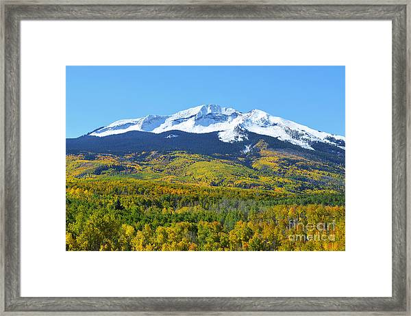 Framed Print featuring the photograph Kebler Pass by Kate Avery