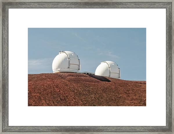 Keck 1 And Keck 2 Framed Print