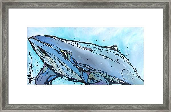 Keep Swimming Framed Print
