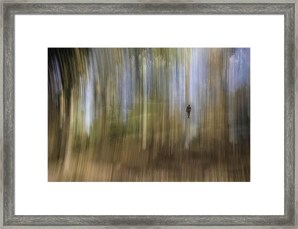 Keep Walking Framed Print