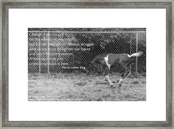 Keep Your Dignity Framed Print