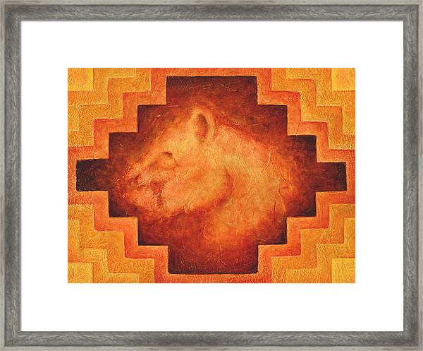 Keeper Of The Torch Framed Print