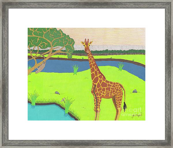 Keeping A Lookout Framed Print