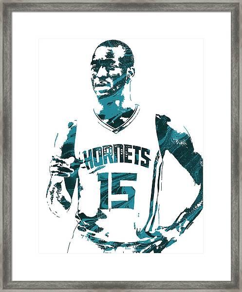 Kemba Walker Charlotte Hornets Pixel Art 4 Framed Print