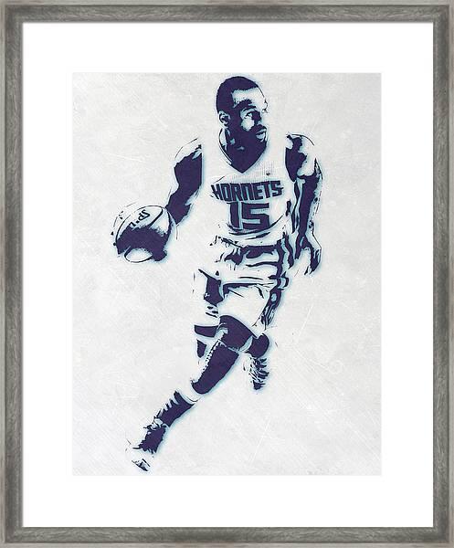 Kemba Walker Charlotte Hornets Pixel Art Framed Print