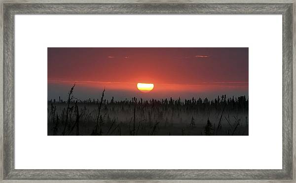 Kenai Peninsula Early Sunrise Framed Print by Mary Gaines