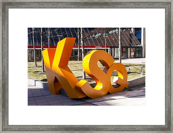 Kendall Square Sign Cambridge Ma Framed Print