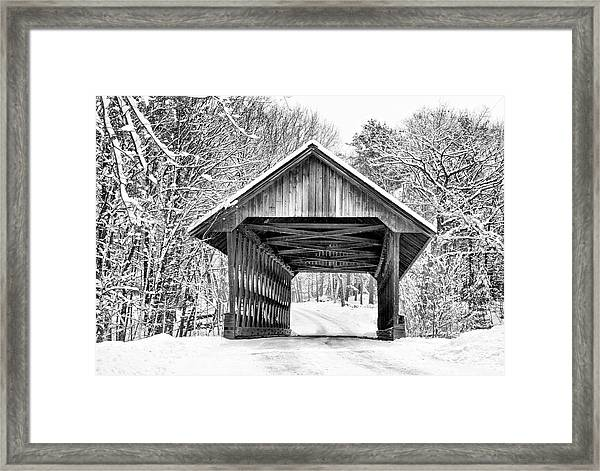 Keniston Covered Bridge  Framed Print