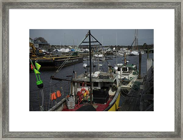 Framed Print featuring the photograph Kennebunkport Harbor In Early Winter by Samuel M Purvis III