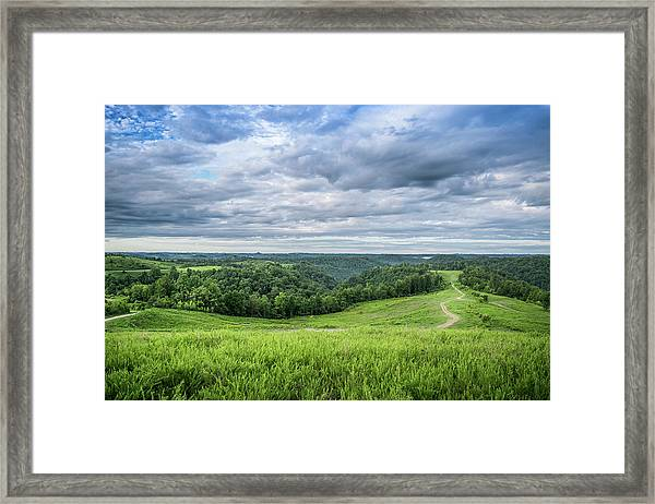 Kentucky Hills And Clouds Framed Print