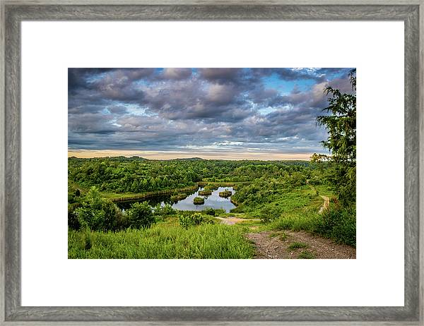 Kentucky Hills And Lake Framed Print