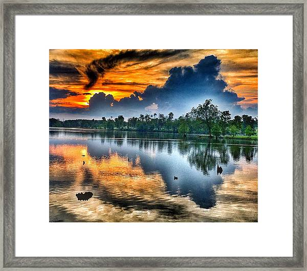 Kentucky Sunset June 2016 Framed Print