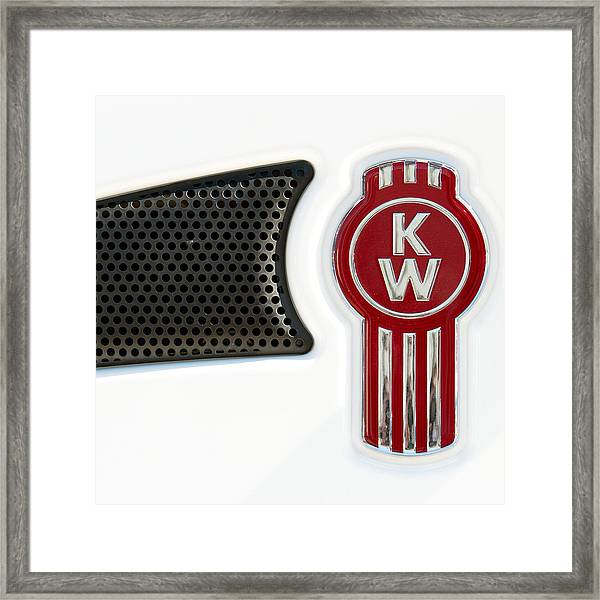 Kenworth Tractor White Framed Print