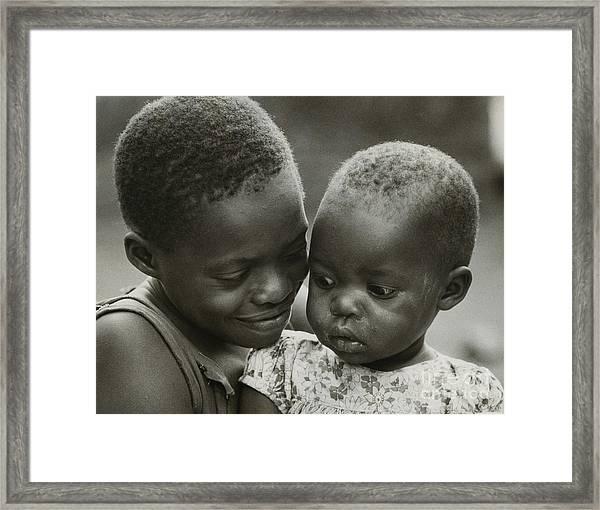 Kenya Sisters  Framed Print by Erik Falkensteen
