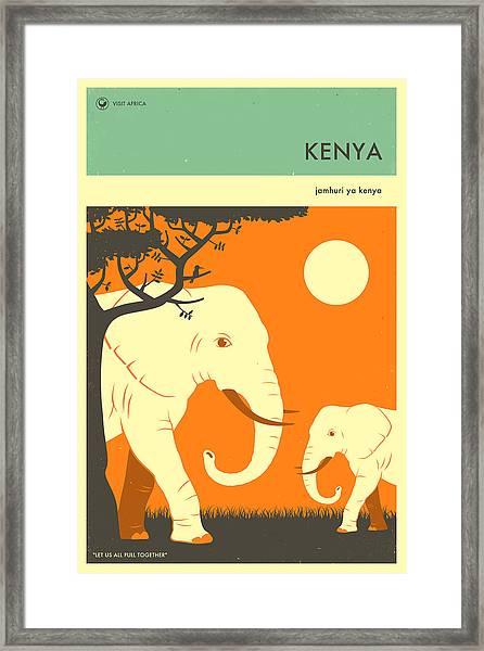 Kenya Travel Poster Framed Print