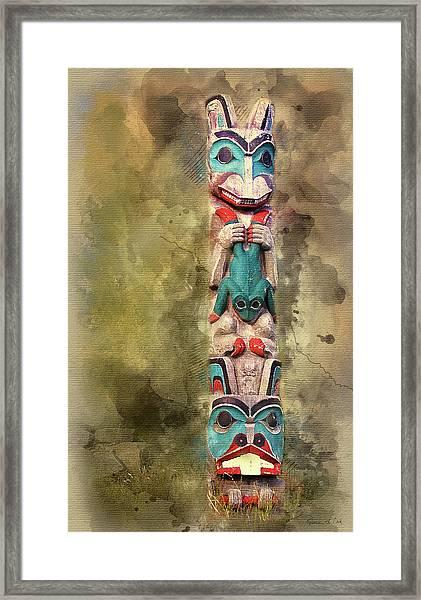 Ketchikan Alaska Totem Pole Framed Print