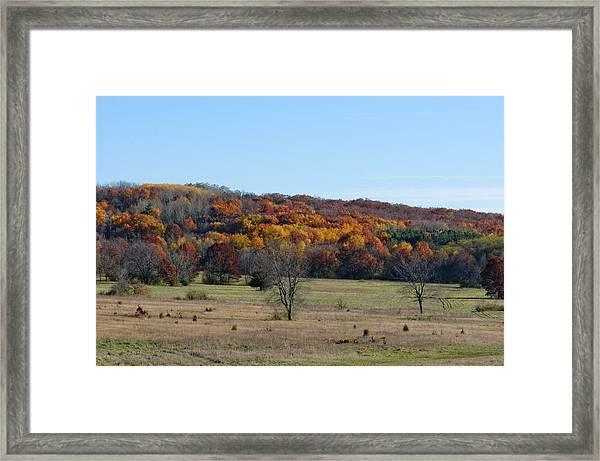 Kettle Morraine In Autumn Framed Print