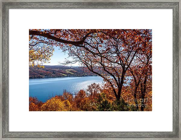 Keuka Lake Vista Framed Print