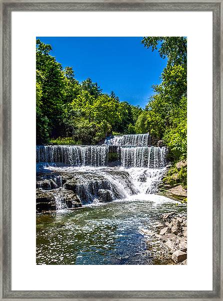 Keuka Outlet Waterfall Framed Print