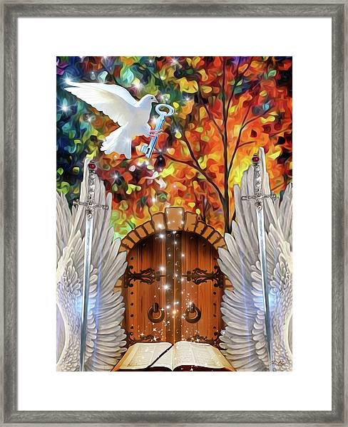 Key To The Word Framed Print
