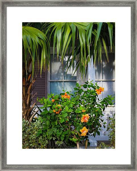 Key West Garden Framed Print