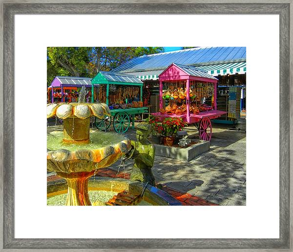 Key West Mallory Square Framed Print