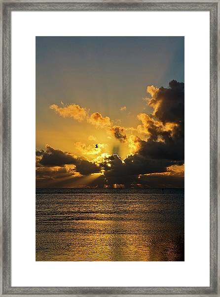 Framed Print featuring the photograph Key West Sunrise 39 by Bob Slitzan