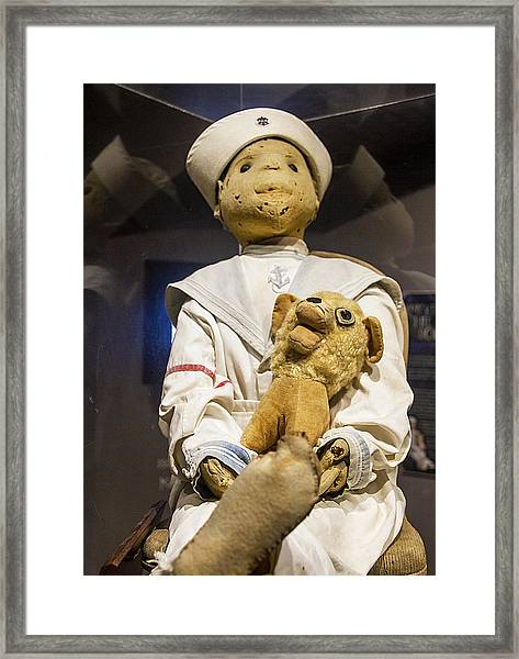 Framed Print featuring the photograph Key Wests Robert The Doll by Bob Slitzan