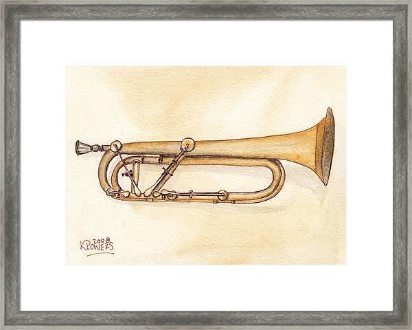 Keyed Trumpet Framed Print