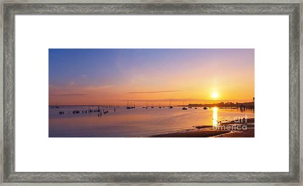 Keyport Harbor Sunrise  Framed Print