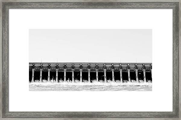 Keystone Dam Panoramic Framed Print