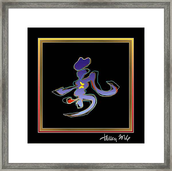 Framed Print featuring the painting Ki  by Larry Talley