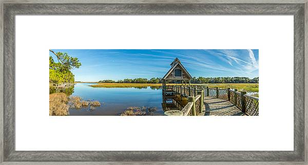 Kiawah Island Boathouse Panoramic Framed Print