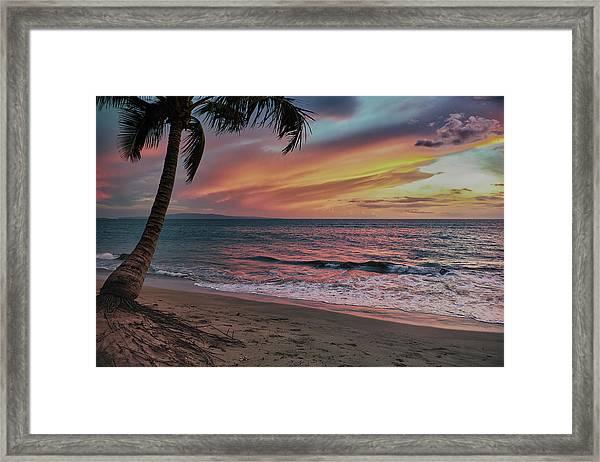 Kihei Sunset Framed Print