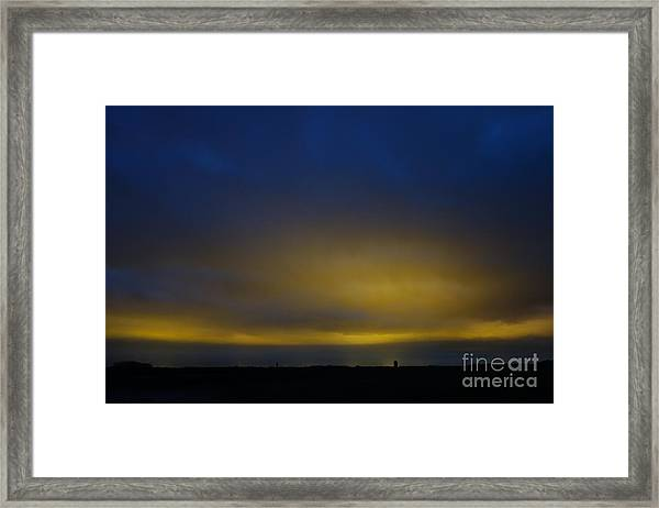 Kijkduin Sunset Framed Print
