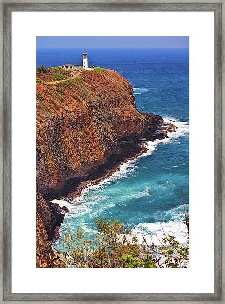 Framed Print featuring the photograph Kilauea Lighthouse On The Island Of Kauai, Hawaii, United States Of America          by Sam Antonio Photography
