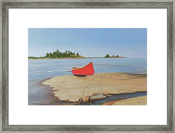 Killarney Canoe Framed Print