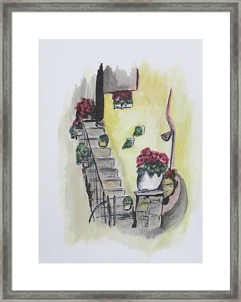 Kimberly's Castellabate Flowers Framed Print