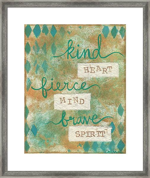 Kind Heart Framed Print