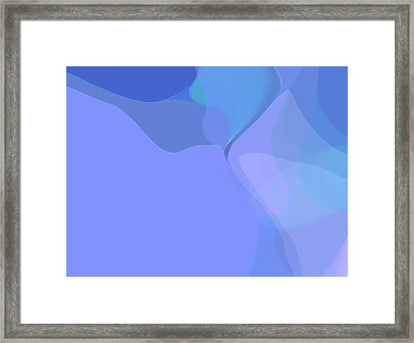 Framed Print featuring the digital art Kind Of Blue by Gina Harrison