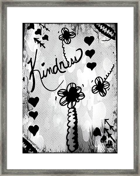 Framed Print featuring the drawing Kindness by Rachel Maynard