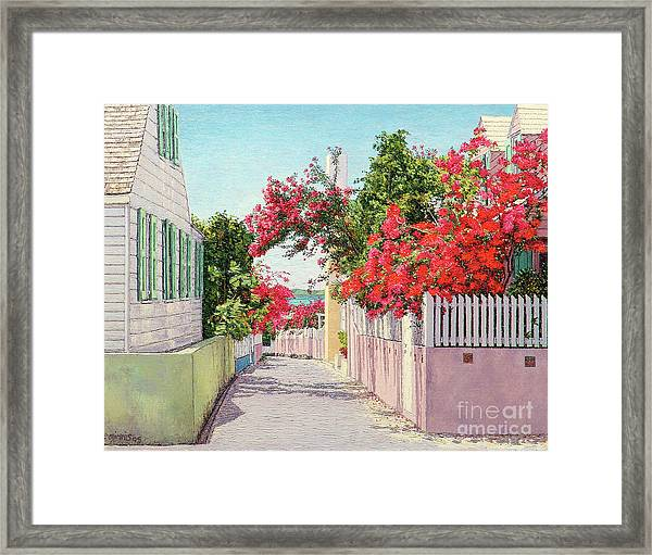 King And Crown Street Framed Print