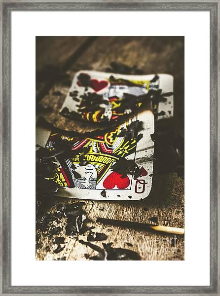 King And Queen Of Broken Hearts Framed Print