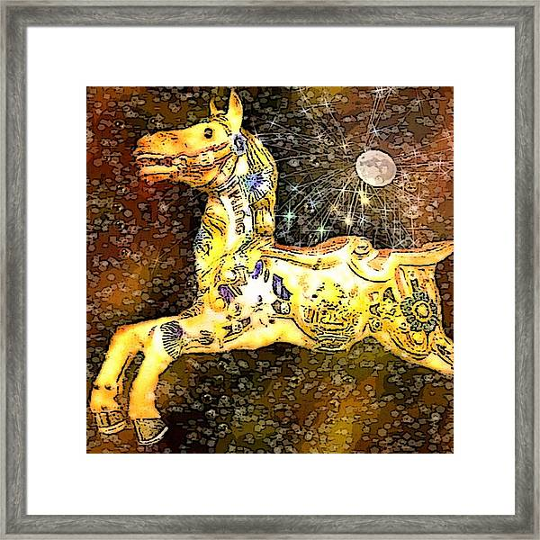 King And The Moon Framed Print