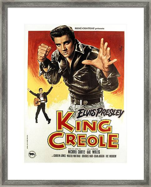 King Creole, Elvis Presley, 1958 Framed Print by Everett
