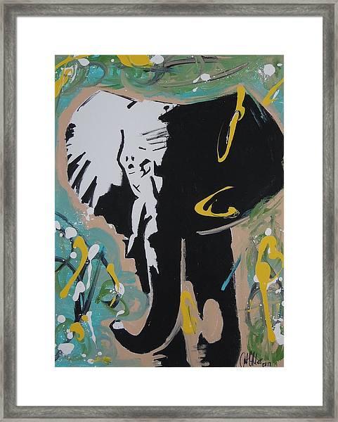 King Elephant Framed Print