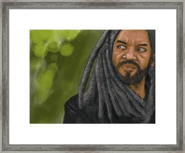 Framed Print featuring the digital art King Ezekiel by Antonio Romero